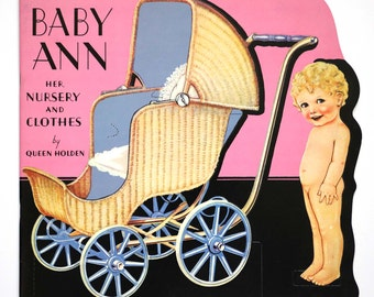 Queen Holden Baby Ann and Her Nursery and Clothes - 1985 Merrimack - Reproduction Queen Holden - Nursery Paper Dolls - Paper Cutouts