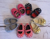 Baby Girl shoes, Gold Baby Shoes, Coral Baby Shoes, Navy Baby Shoes, Gray Baby Shoes