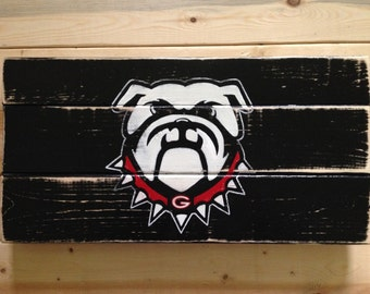 """Georgia Bulldog Sign-9x18"""""""
