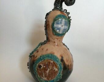 Gwendolyn's Gourd Ceramic Fairy House