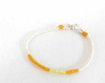 Rope bracelet yellow