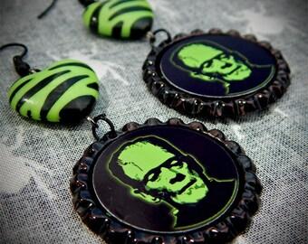 Electric Monster earrings
