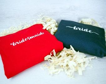 BRIDE - BRIDESMAID - Bridal Party Personalised Vests
