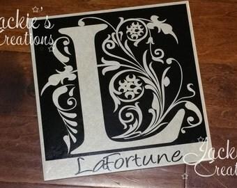 Personalized 12×12 Ceramic Tile/ Last Name Tile/ Wedding Gift