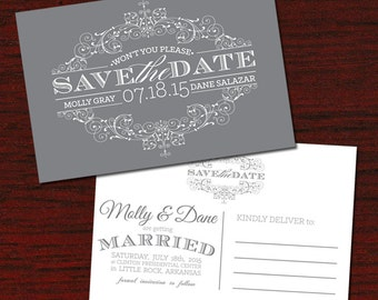 Classic Save The Date Postcards! PROFESSIONALLY Printed!