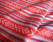 Peruvian Fabric, Andean Fabric, Woven, Bluma Red, 2 Yards