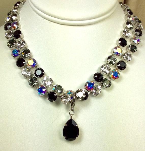 Swarovski Crystal 8.5mm Necklaces  - Designer Inspired  - CLASSY - Stunning & Classy Pairing ! -  FREE SHIPPING