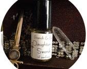 Herbal perfume // Wild Unknown Tarot // Lavender // Oakmoss // Daughter of Swords // wild unknown //essential oil perfume