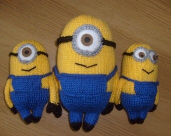 Minion, Cuddly Toy, Hand Knitted, Plushy