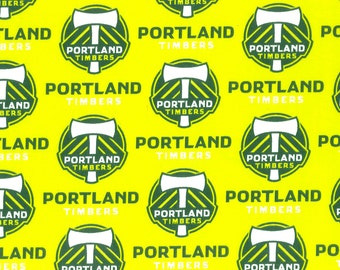 Portland Timbers MLS Cotton Fabric - Sale - BTY