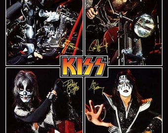 """KISS """"Destroyer Era"""" Motorcycle Collage Poster Stand-Up Display"""