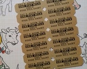 Rare Antique Dairy Milk Tickets Good for One Pint   Unused NOS