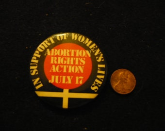 Pro-choice rally button