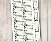 Lacrosse Striped Box, Set of 24