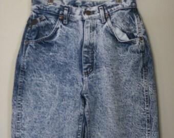 vintage lee acid wash high waist skinny mom jeans ladies size 11