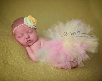 Newborn Tutu, Baby Tutu Set, newborn tutu set, baby tutu, pastel tutu, tutu set, photo prop, baby photo prop, newborn photo prop, tutu
