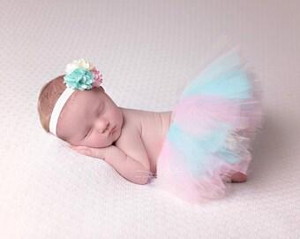 Newborn tutu set, birthday tutu set, newborn tutu, newborn photo prop, baby tutu, baby tutu set, photo prop, photography prop, tutu set,