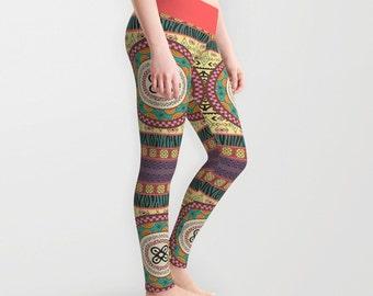 Ankara Print Pant Leggings, Afrocentric Clothing  Ankara Clothing , African Wear, African Print Dress Adinkra, African Shop Print