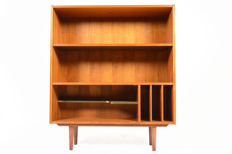 Danish Mid Century Modern Teak Bookcase with by MidCenturyMobler