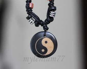 809 Men's pendant with cord Yin and Yang pendant Taijitu pendant Taoist pendant Religious jewelry Necklace pendant For men and women