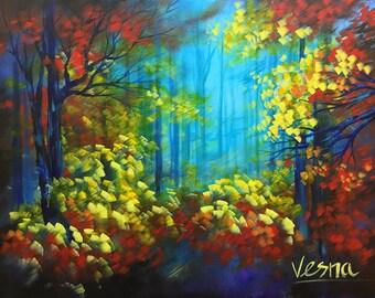 """Vibrant - 36""""x48""""x1.5"""" Acrylic on Canvas"""
