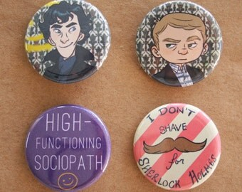 Sherlock Pins - set of 4