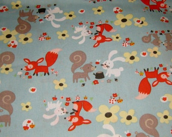 Animals Of The Forest  Cotton Fabric
