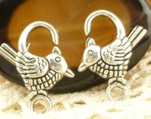 Bird Chicken Lobster Clasp Findings, Extra Large Silver Tone (4) - SF90