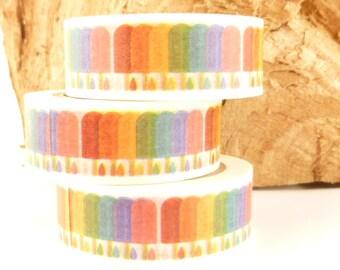Rainbow Popsicle Washi Tape - B640