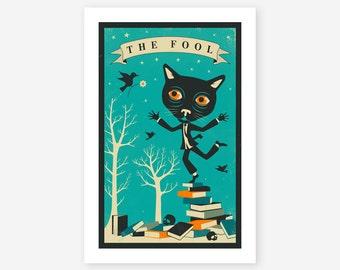 TAROT CARD CAT (Giclée Fine Art Print, Photo Print or Poster Print) The Fool
