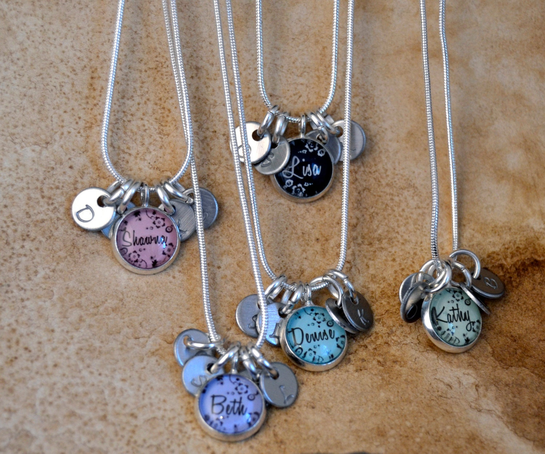 5 best friend necklaces 5 friendship necklace personalized