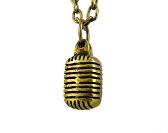 Vintage Microphone - brass