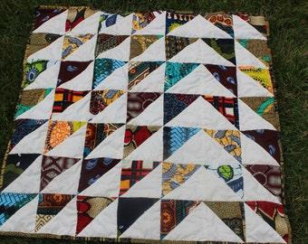 Ankara/ African Wax Print Cotton Baby Quilt