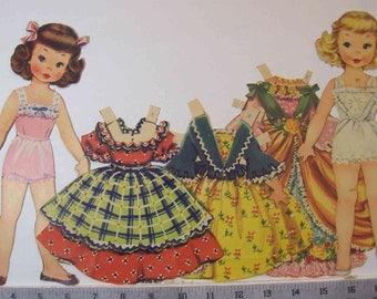 Vintage 1952 Storybook Land paper dolls  Merrill 1544