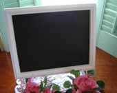 White chalboard 8x10 chalkboard message board signage wedding decor party decor welcome sign white frame centerpiece