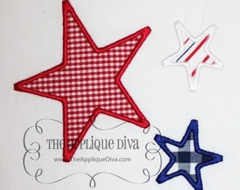 Red White and Blue stars for the 4th of July Applique Tshirt or onesie