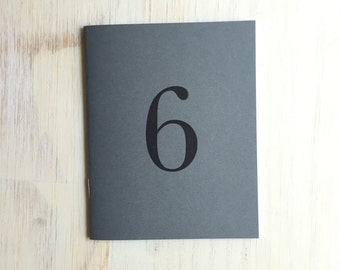 Notebook: Table Numbers, Wedding, Gray, Gay Wedding, Reception, Number, Medium Notebook, Love, Wedding Favor, Journal, Unique, Gift, HHH