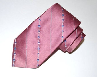 Vintage Tie, Men's Necktie, Wembley Vintage Tie, Mauve Necktie, Men's Polysilk Tie, 60's Necktie, Vintage Neckwear, SALE!