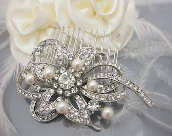 Wedding hair jewellery,Bridal hair comb,Wedding hair clip,Pearl hair comb,Rhinestone hair piece,Wedding decorative combs,Bridal hair clip