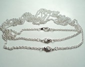 3 pcs - Silver plated 20 inch fine rope Neckchains - m300