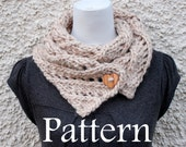 Knitting pattern-diagonal lace Big Softie scarf, Listing139