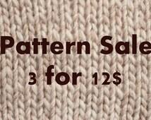 Pattern sale, KNITTING, CROCHET, PATTERNS, clothing patterns, scarf pattern, kids patterns