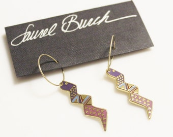 Vintage Snake Spirit Earrings By Laurel Burch, Gifts Under 30, Snake Jewelry