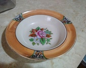 Art deco lusterware bowl with cherry blossom mark .