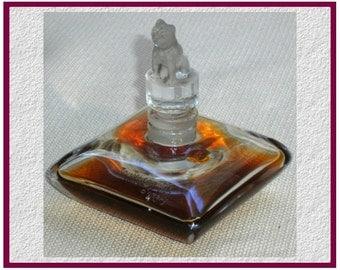 Vintage TOUJOURS FIDELE D'Orsay Fragrance Baccarat Parfume Dog Bottle, Very RARE!
