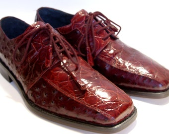 Giorgio Brutini Private Collection Men's Burgundy Red Leather Shoes Size 8 1/2 M