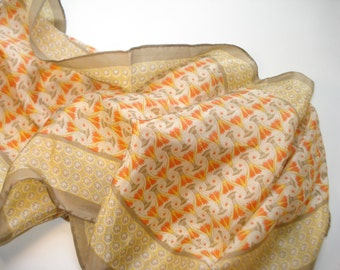 Vintage Silk Long Scarf - Scarves - Womens Summer Accessories Collection XIIX - Made in Japan