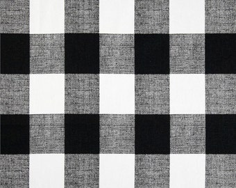 Decorative Buffalo Check Pillow Cover - Black and White Checkered Plaid Buffalo Check - SAME FABRIC Both Sides - Pick Your Size