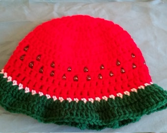 Crochet Watermelon Sunhat