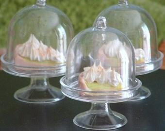 Lemon Meringue Pie in Domed Dish for American Girl Dolls